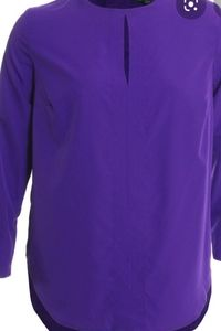 Ralph Lauren Purple Keyhole Blouse
